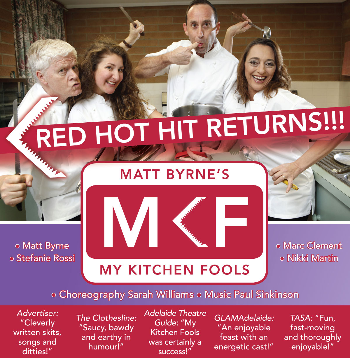 My Kitchen Fools returns for one night only