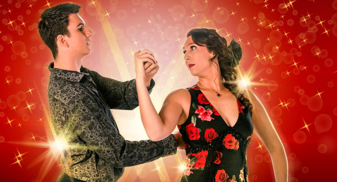 Baz Luhrmann's Strictly Ballroom The Musical Cast – Kurt Benton and Kate Harrison as Scott and Fran